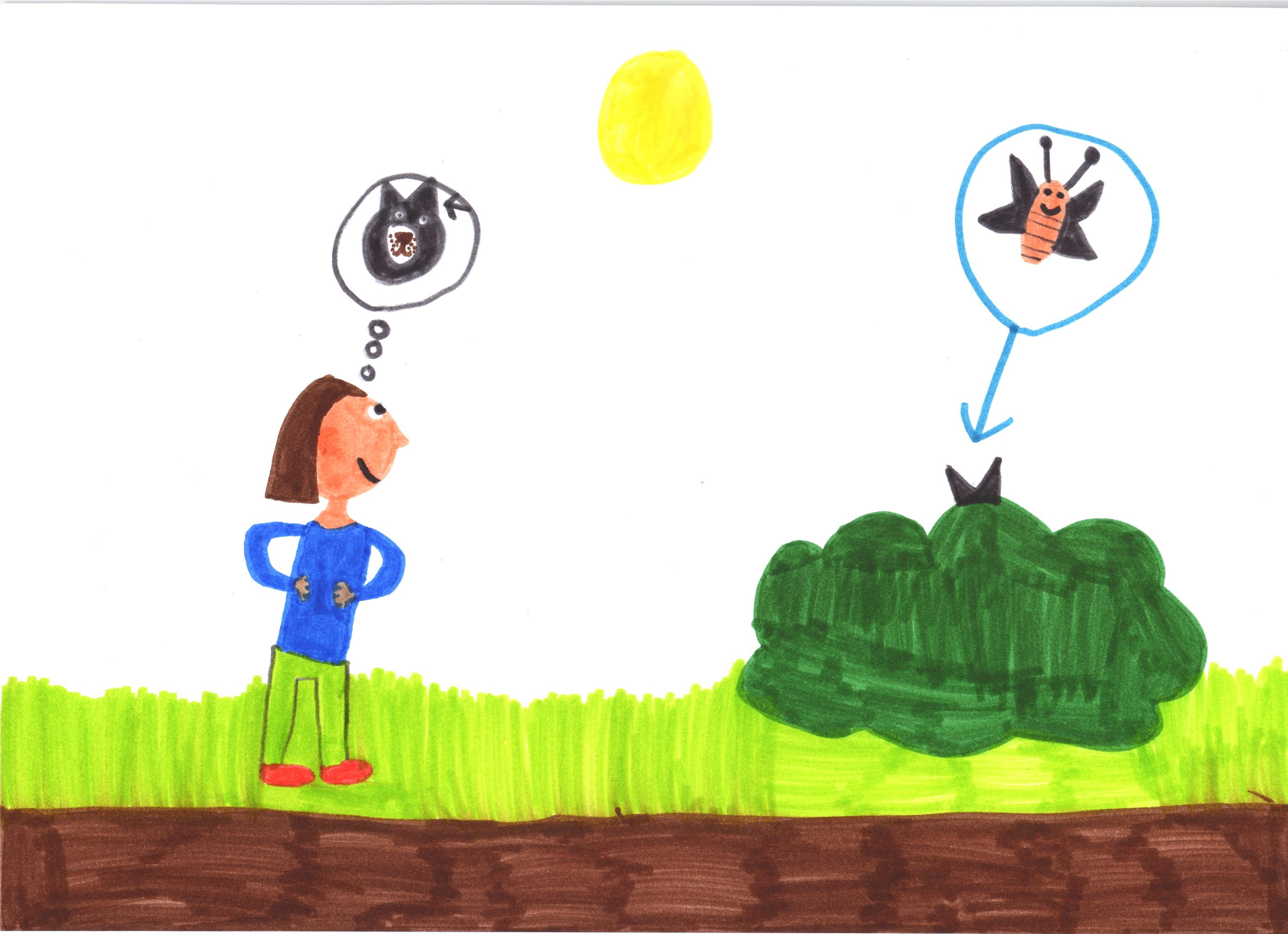 Chien ou papillon ? by Adèle, 8 ans
