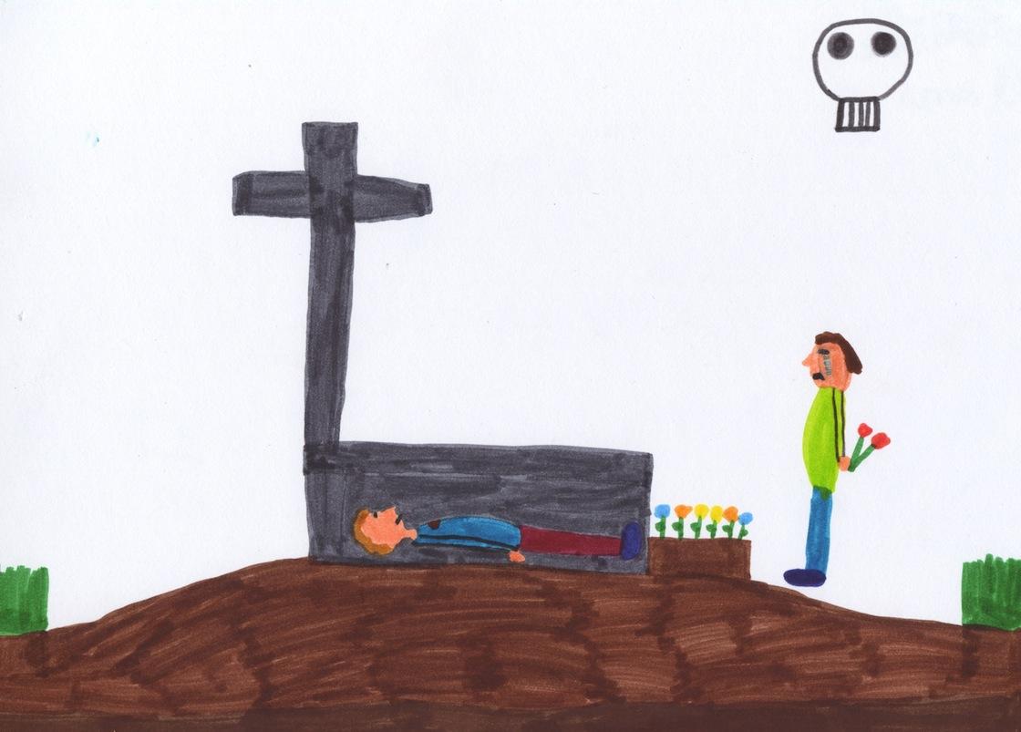 La mort by Adèle, 8 ans