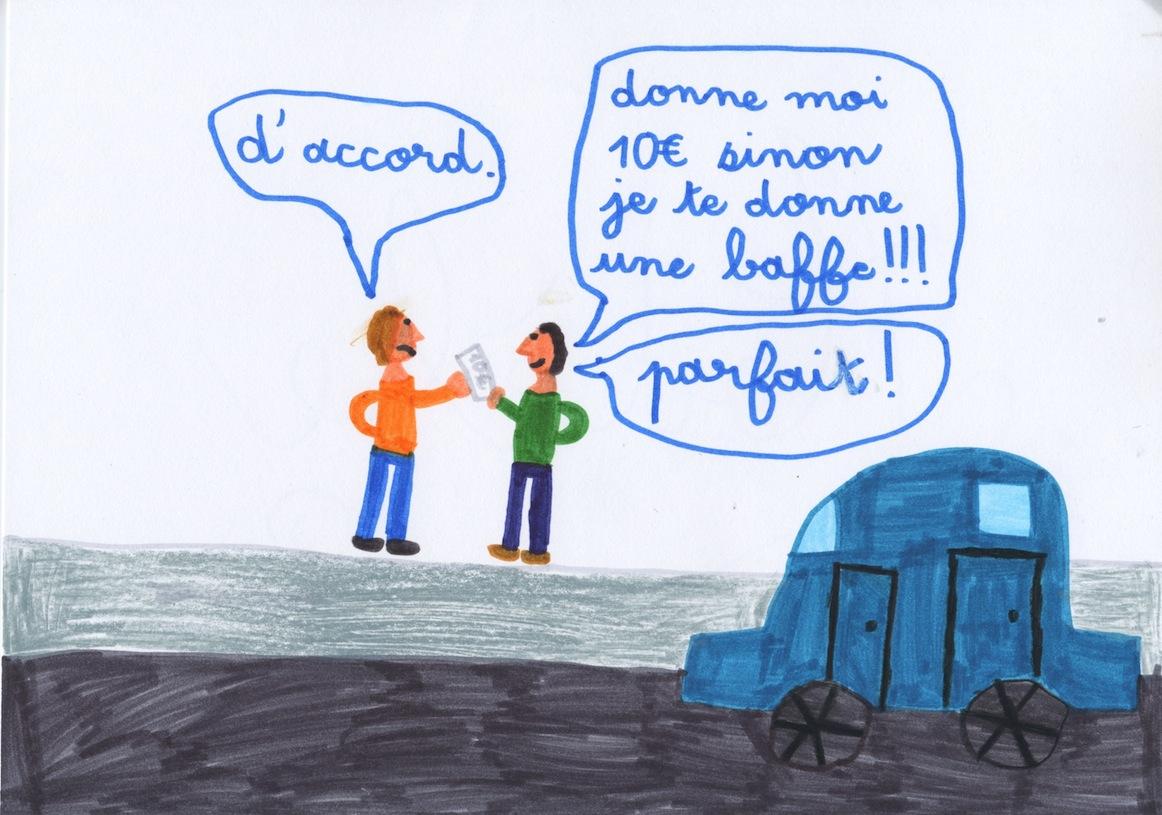 La violence by Adèle, 8 ans