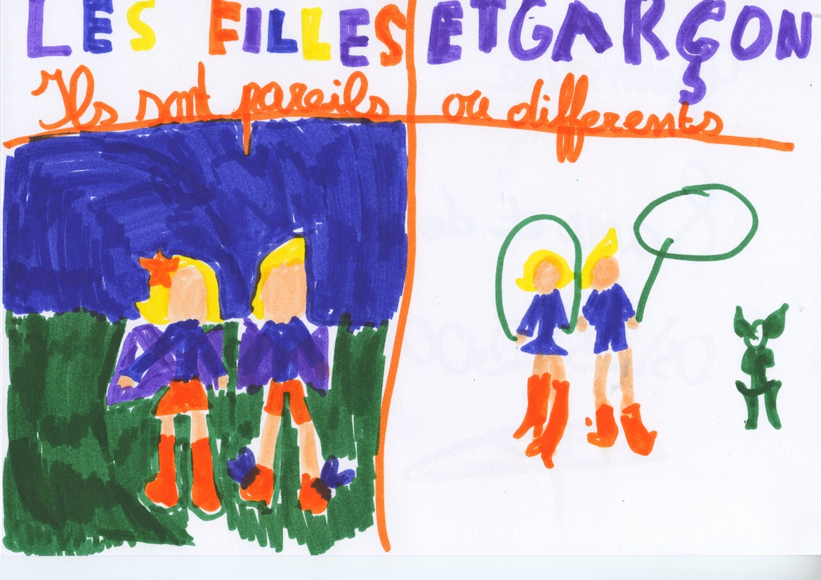 Les filles et les garçons, by Germaine, 8 ans